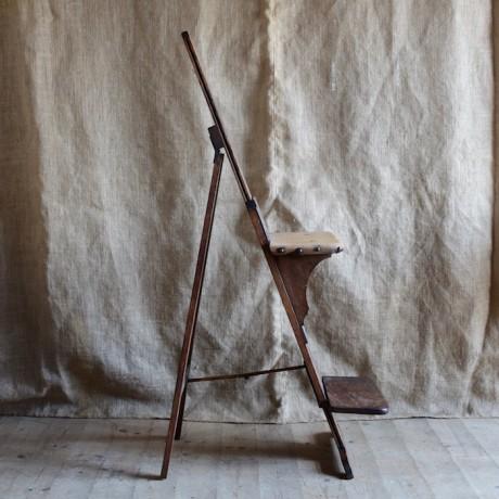 Rare Oak Easel Seat c.1880