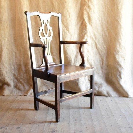 Late 18thC Oak Elbow Chair