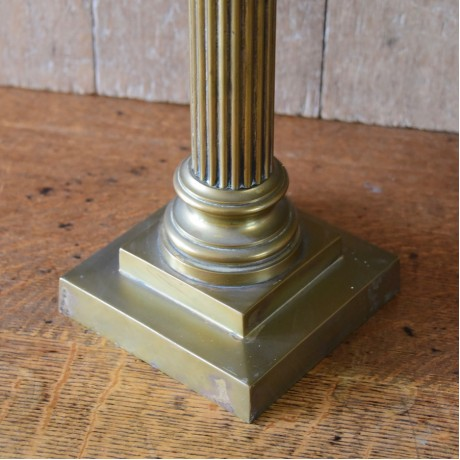 Large Brass Column Lamp