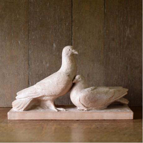 1930s Terracotta Pigeons