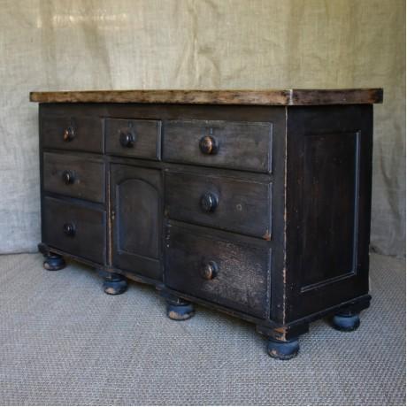 19thC Painted Dresser Base