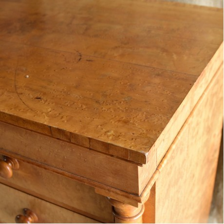 Large Birds Eye Maple Chest of Drawers