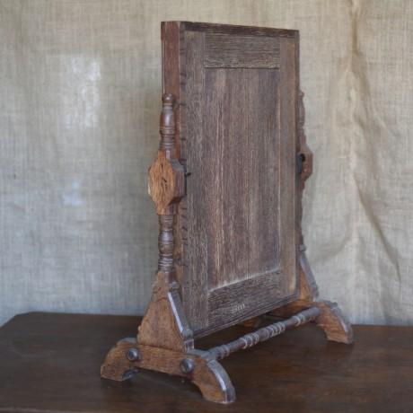 Arts and Crafts Oak Mirror