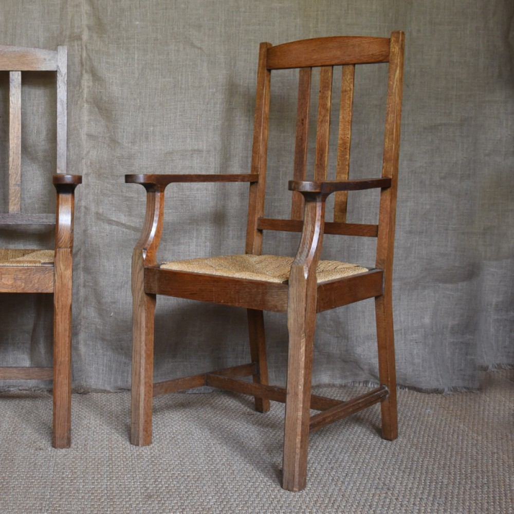 Pair Of Arts And Crafts Chairs