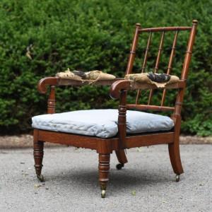 Mid 19thC Mahogany Open Armchair