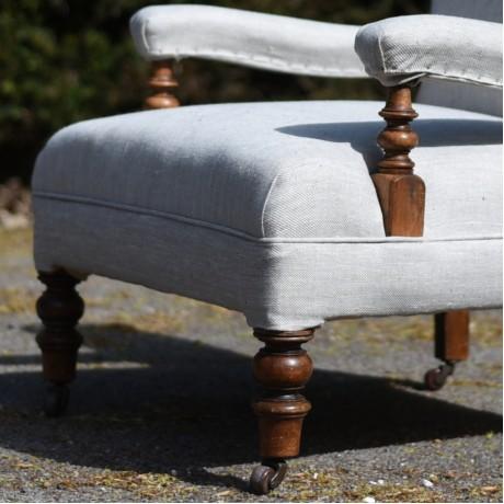 Upholstered Open Armchair