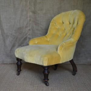 Small Upholstered Slipper Chair