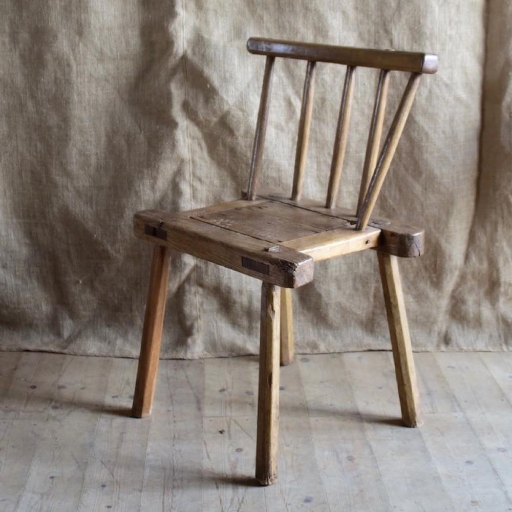 Antique Leather Sofa Northern Ireland: An Irish Hedge Chair, C.1840, Co Antrim