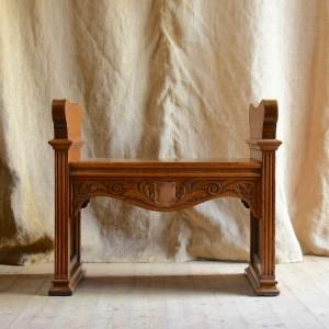 Late 19thC Oak Seat
