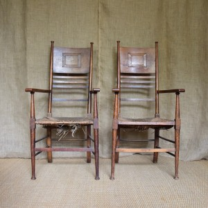 Pair of Arts and Crafts Chairs c.1890