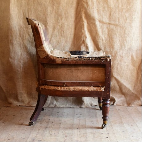 Simulated Rosewood Armchair
