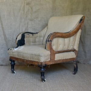 19thC Upholstered Chair