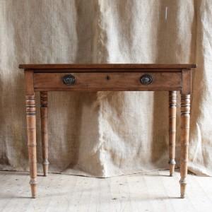 19thC Light Mahogany Side Table