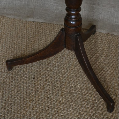 A mid 19thC Oak Lamp Table