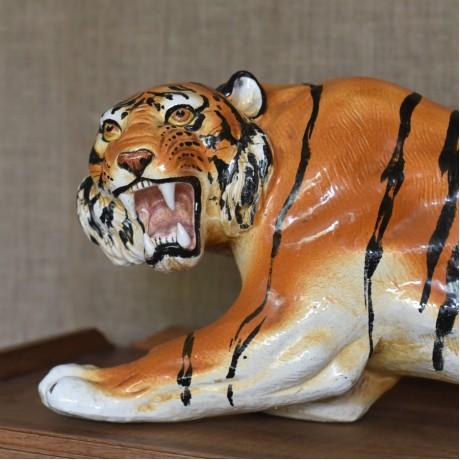 Large Ceramic Tiger