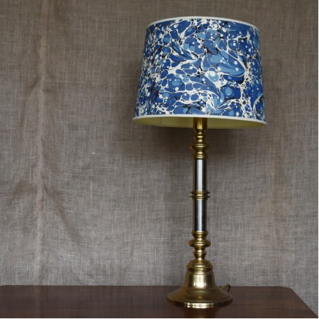 Brass and Burnished Steel Lampbase